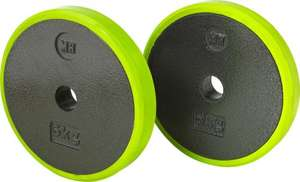 Men's Health Cast Plate Pair with Rubber Rings - 2 x 5kg -£7.99 From Argos on ebay