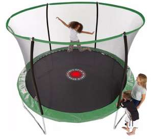 Sportspower 10 ft Quad Lok Trampoline with Easi Store Enclosure and Flash Zone £89 at Asda George