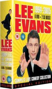 Lee Evans - 1994-2005 Complete Live Collection (DVD) £1.79 Delivered (Used) @ Music Magpie (6 DVD & 2 CD)