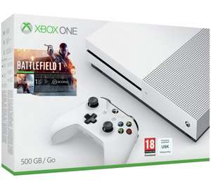 Xbox One S 500GB Battlefield 1 bundle with additional game or controller £208.99 @ Argos