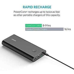 Anker PowerCore+ 26800 Premium Portable Charger with Qualcomm Quick Charge RRP £52.99 now £35.99 Sold by AnkerDirect and Fulfilled by Amazon