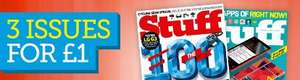 Stuff Magazine 3 issues £1 free powerbank