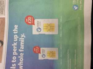 Tesco Mobile 20gb data and 5k mins and texts and 6gb data and 3k mins and texts - £13.50 pm / 12mths