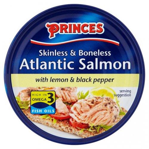 Princes Atlantic Salmon Steak Lemon Black Pepper 160G £1.50 Tesco