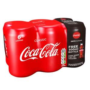 FREE BOTTLE OF COCA-COLA ZERO SUGAR WITH CLASSIC 6x MULTIPACK - @ Various Supermarkets