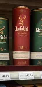 Glenfiddich 15 year old £21.81 instore @ Tesco Leith