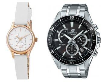 Radley Ladies On The Run White Leather Strap Watch £29.99 / Casio Edifice Premium Silver Chronograph Watch £59.99 - Free Del @ Watches2U