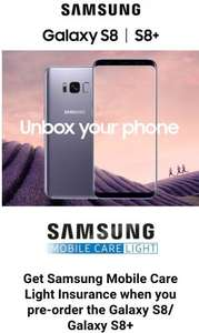 Samsung s8 free insurance with purchase £689 @ Samsung Shop