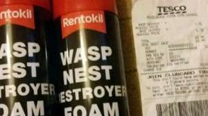 Rentokil wasp nest destroyer foam £1.72 instore at Tesco Extra