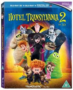 Hotel Transylvania 2 (3D BluRay Edition + BluRay + UltraViolet Copy) £3.73 delivered (with code) @ Zoom