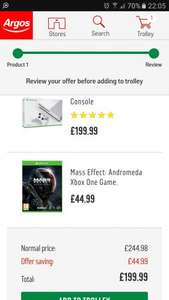 Xbox One S 500GB with Mass Effect £199.99 @ Argos