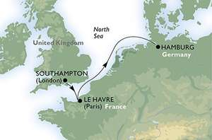 MCS Cruises - 3 Night - Southampton to Hamburg Germany - Outside Cabin £139 Per Person