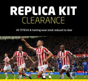 Stoke City final replica kit clearance - shirts down to £12