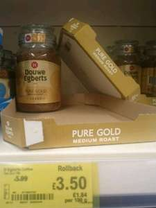 Douwe Egberts Pure Gold 190g rollback from £5.99 to £3.50 at Asda