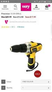 Precision 10.8v drill was £29.99 now £12 @ very Free c&c