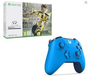 Xbox One S 500GB, FIFA 17 & Wireless Controller (Blue, Black or White) Bundle £209.99 @ PC World
