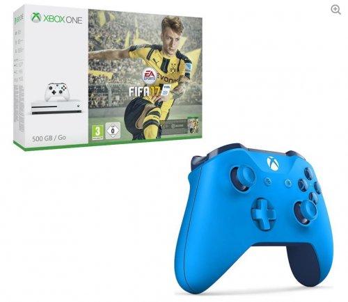 Xbox One S 500GB, FIFA 17 & Wireless Controller (Blue, Black or White) Bundle £209.99 @ PC World