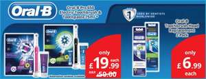 Oral B Pro 650 electric toothbrush (black or pink) just £19.99 (rrp £50) at Savers