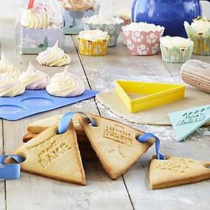 Great British Bake Off Bunting Cookie Cutter Set £1.99 - @ Lakeland free Click & Collect