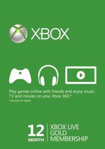 Xbox Live Prepaid 12 Month Gold Subscription £33.96 @ Ebuyer