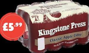 12 440ml cans of kingston press cider £5.99 @ Nisa