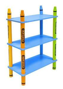 Bebe Style Crayon 3 Tier Shelves - Blue/ Pink was £17.99 Now only £7.49 delivered @ Argos