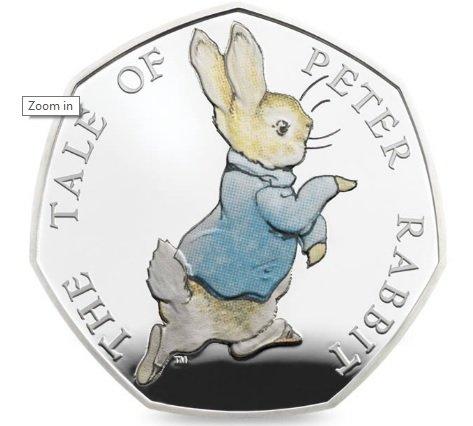 NEW PETER RABBIT COIN £60 @ royalmint