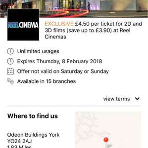 ONLY £4.50 2D or 3D CINEMA TICKETS ON WEEKDAYS @ REEL CINEMAS