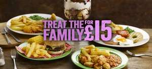 Feed a family of 4 for £15 including huge dessert @ Hungry Horse