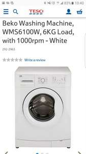 Beko 6KG 1000 RPM A+ White Washing Machine £167.20 (with code) - Tesco