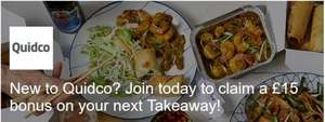 £15 cashback for new Quidco members who order takeaway