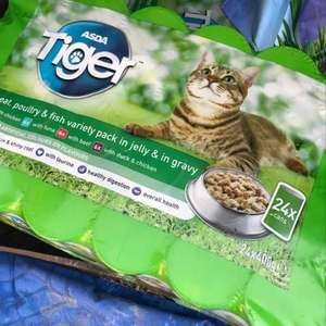 ASDA  24 cans Tiger cat food reduced - £4.63 instore - Derby