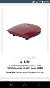 George foreman 5 portions family grill 18872 red colour £18.50 @ Nectar exclusive