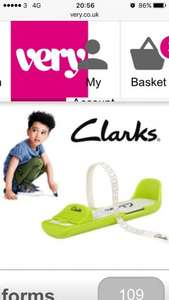 Free clarks foot measuring gauge @very with a £30 spend of kidswear