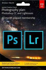 Adobe Creative Cloud Photography Plan: Photoshop CC Plus Lightroom - 12-Month Licence - £80.95 @ Amazon