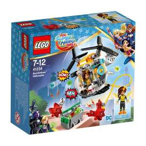 LEGO DC Super Hero Girls Bumblebee Helicopter 41234 £6.99 (was £11.99) @ Smyths