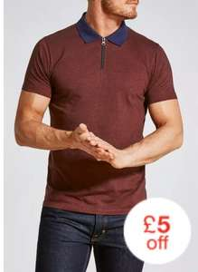 Mens Polo shirts reduced to £5 with free click and collect. Online & Instore @ Matalan