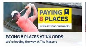 Skybet - US Masters Paying 8 places @ 1/4 odds