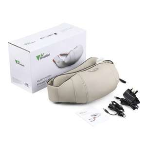 Amzdeal Shiatsu Neck and Back Massager with Heat and Timing Function Office Home and Car Use - £38.60 SuperStore2014 and Fulfilled by Amazon