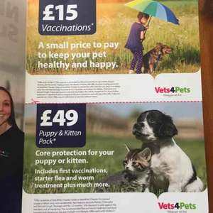new VET surgery vaccinations opening offer @ Vets4pets