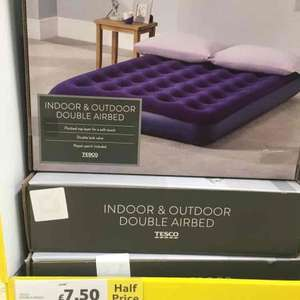 cheap camping / guest bed £7.50 instore @ Tesco