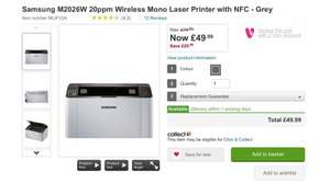 Samsung M2026W 20ppm Wireless Mono Laser Printer with NFC - Grey £49.99 @ Very