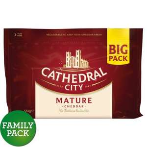 Cathedral City Mature,Extra Mature, Lighter & Mild Cheddar 550g £2.50 @ Morrisons was £5.50