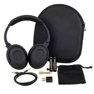 7dayshop Headphones AERO 7 Active Noise Cancelling Headphones with Aeroplane Kit and Travel Case - £24.78