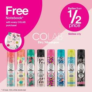 Free Gifts on Colab Dry Shampoo and Garnier products with minimum spend of £1.73 (see description) @ Superdrug