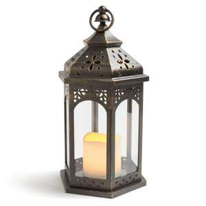 Blooma matt black battery operated outdoor Moroccan lantern was £18 now £15 each or 2 for £20 @ B & Q