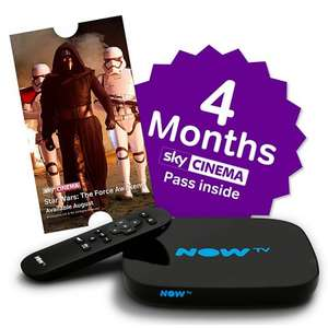 NOW TV Smart TV Box with Pause & Rewind, with 4 Month Movies Pass, Black £39 John Lewis