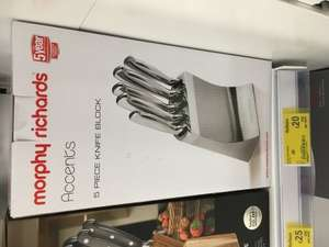 Morphy Richards Knife Set - £10 OFF - £20 at Asda instore