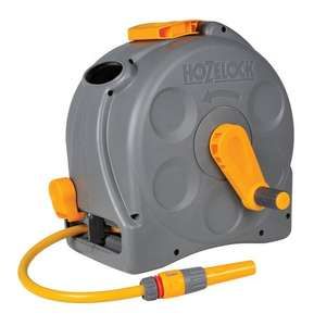 Hozelock 2-in-1 Compact Enclosed Hose Reel with 25m Hose and Connectors, Assorted - Grey/Green £29.99 Amazon
