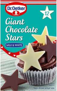 Dr. Oetker Giant Chocolate Stars Milk & White cake decorations (27g) was £2.30 now £1.00 @ Morrisons